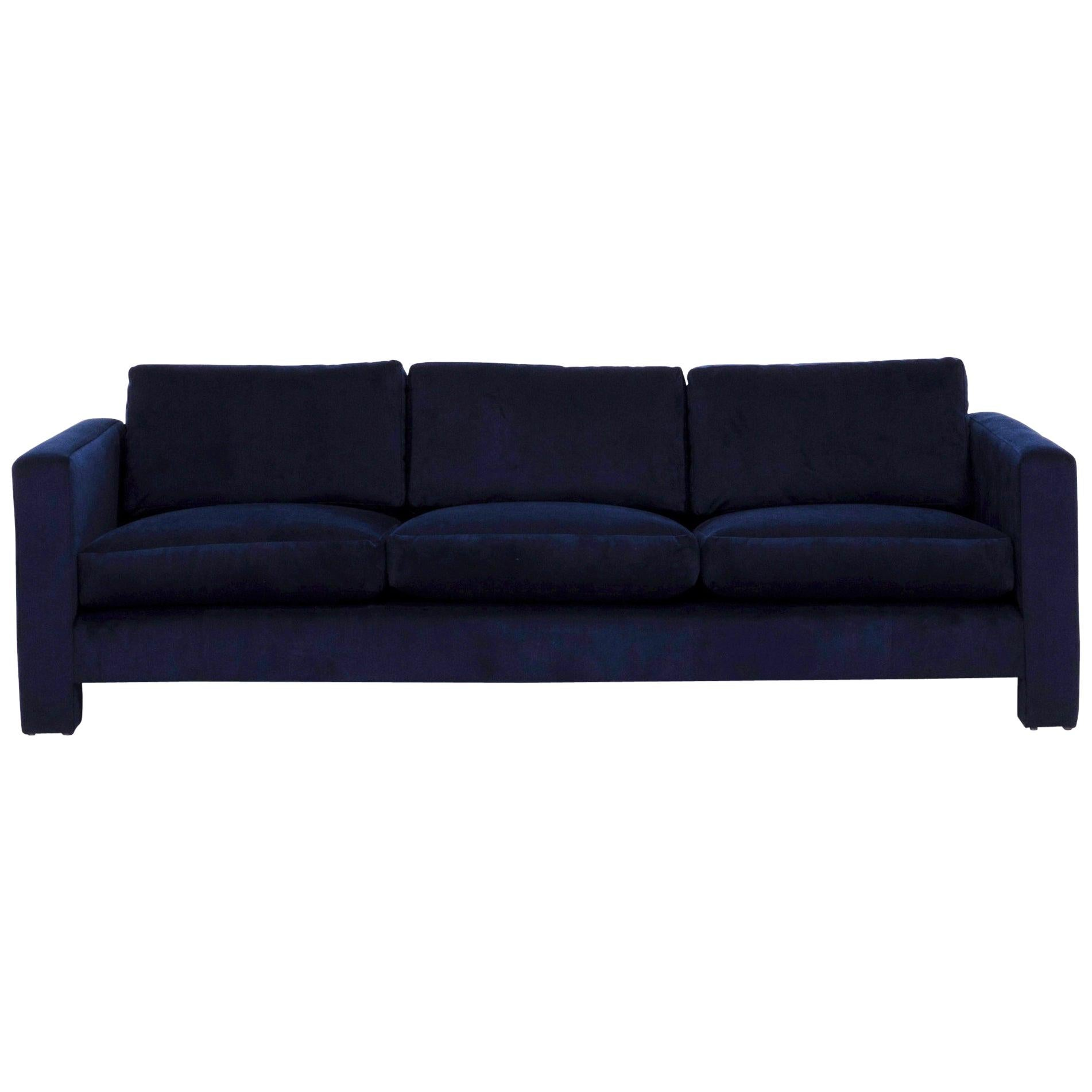 Corduroy 3 Seater Sofa Milo Baughman Sofas 81 For Sale At 1stdibs