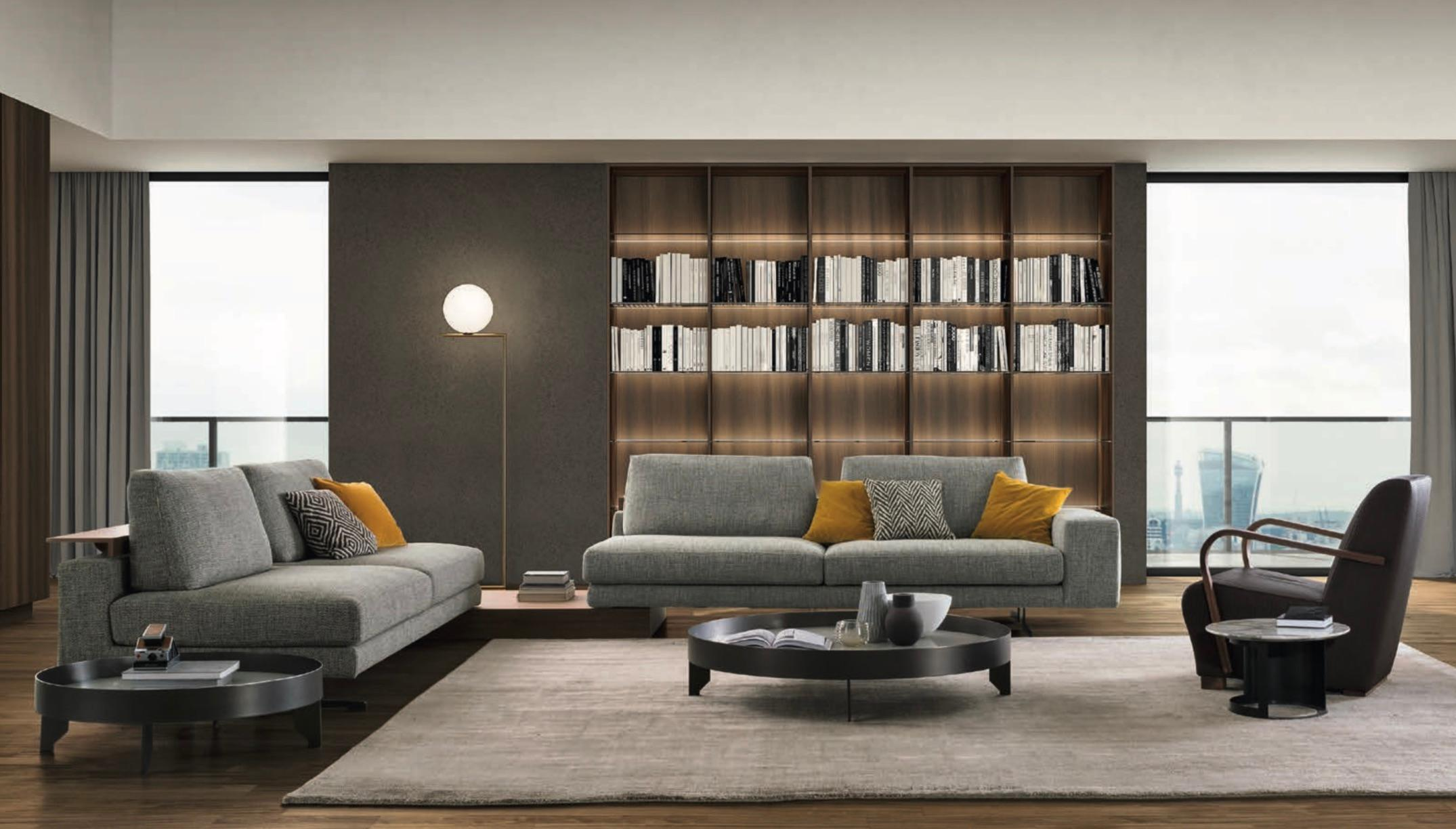 Italian Contemporary Sofas Modern Italian Sofa With Adjustable Back Shelves Made In Italy Contemporary