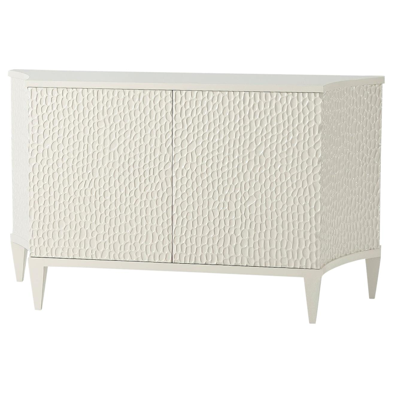 Sarita Luxury Cabinet Metal Structure Jewel Handles And Wooden Two Fabric Effect For Sale At 1stdibs