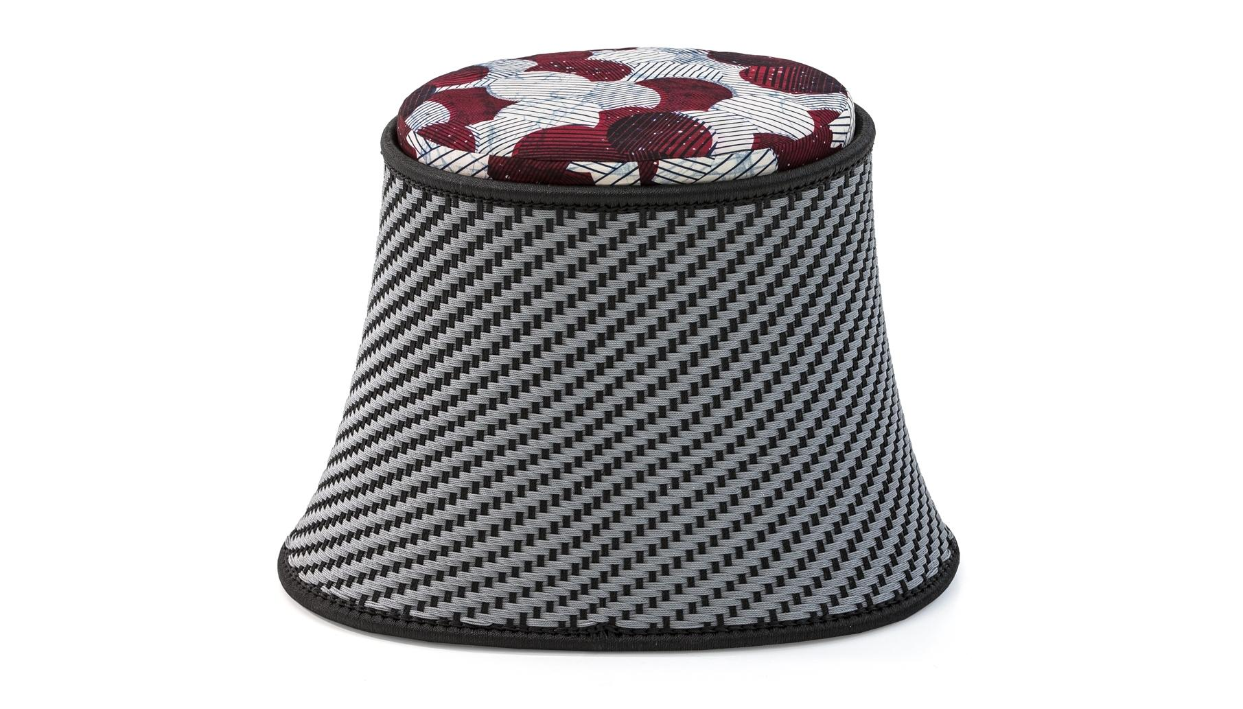 Sitzsack Italienisch Moroso Baobab Pouf Stool In Handwoven Thread Fabric Seat Pad By Marc Thorpe
