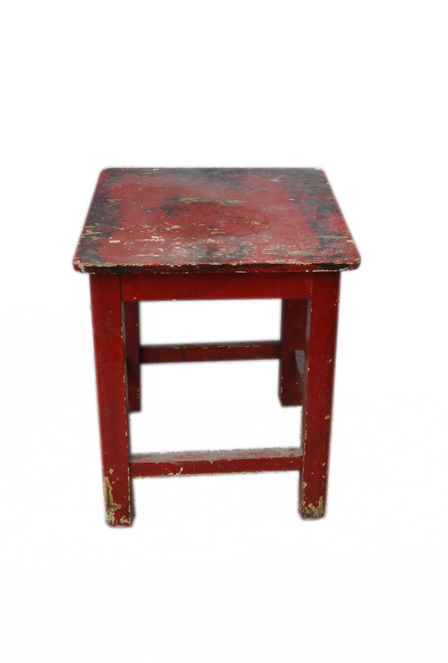 Kitchen Stools For Sale Painted Red Pine Kitchen Stool Circa 1920s