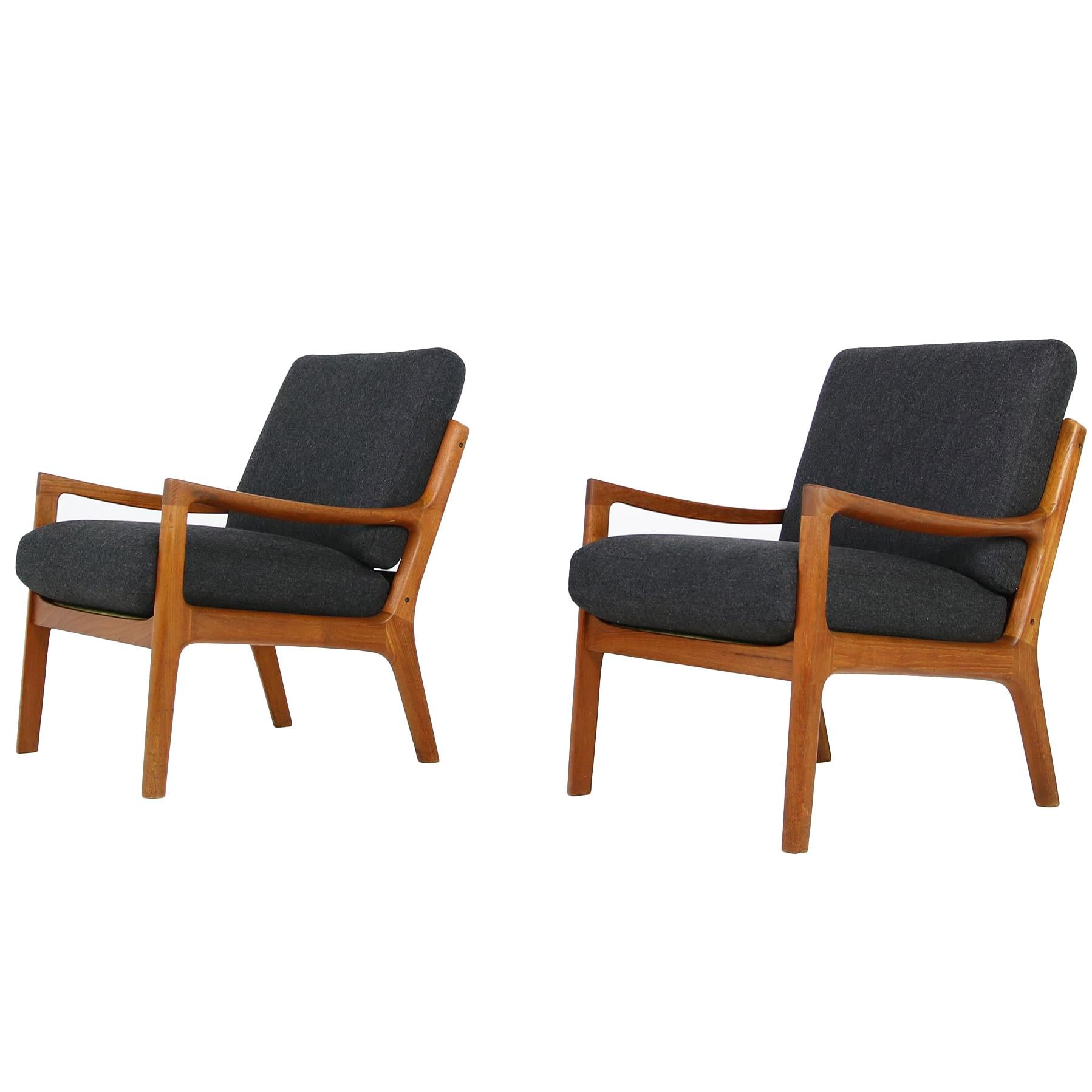 Teak Sessel Danish Pair Of Danish 1960s Teak Lounge Easy Chairs By Ole Wanscher Cado Denmark