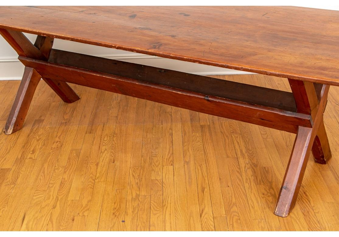 Rare And Extraordinary Antique American Sawbuck Dining Table For Sale At 1stdibs