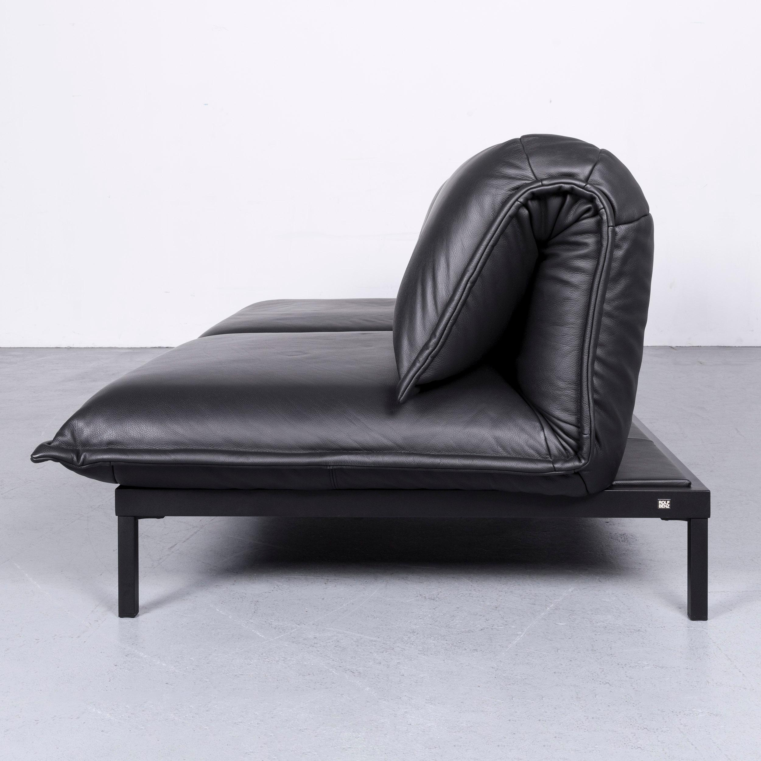 Rolf Benz Nova Rolf Benz Nova Designer Leather Sofa Black Two Seat Couch With Function