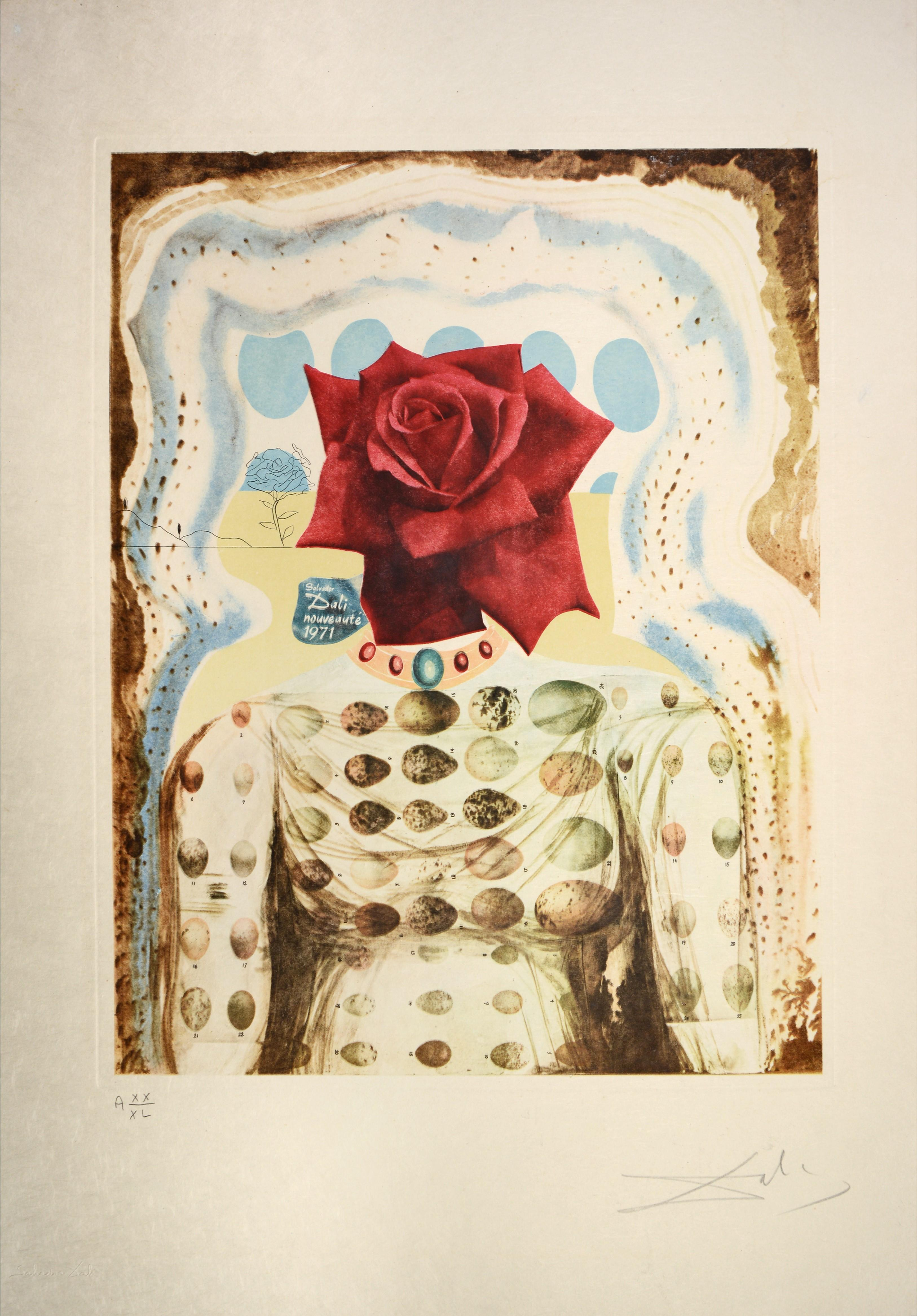 Salvador Dali Rhinoceros Etching Salvador Dalí­ - Salvador Dali, Surrealist Flower Girl