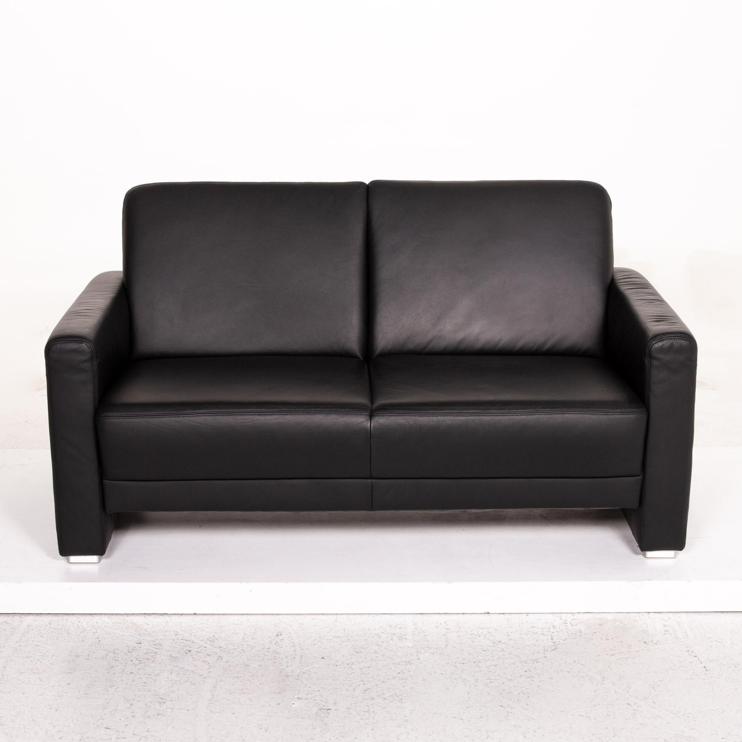 Musterring Ledersofa Sample Ring Leather Sofa Black Two-seat Couch For Sale At 1stdibs