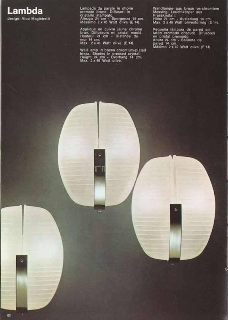 Artemide Wandlampe Set Of Two Lambda Appliques By Vico Magistretti For Artemide 1960s