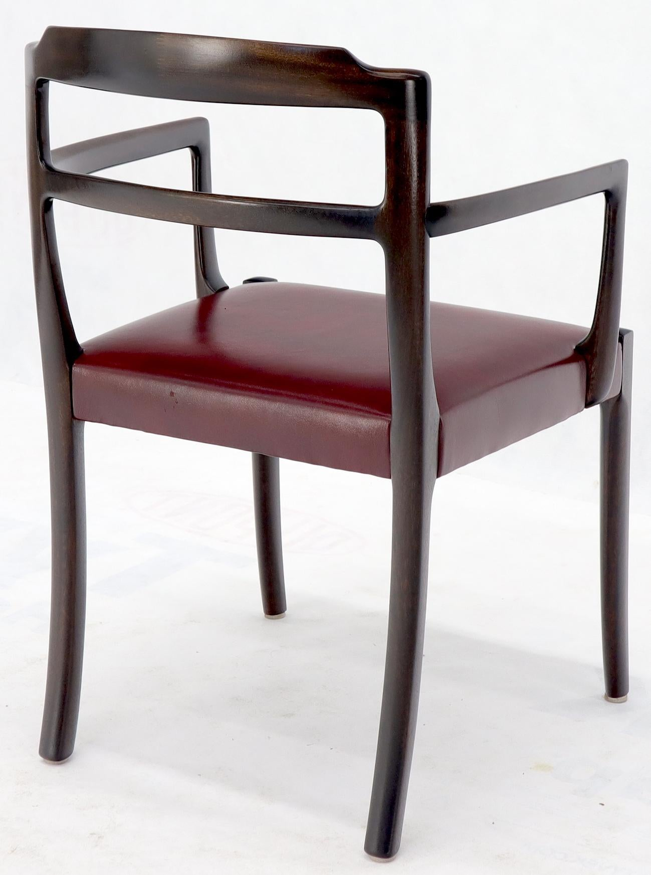 Set Of 8 Eight Rosewood Danish Mid Century Modern Dining Chairs With Arms For Sale At 1stdibs