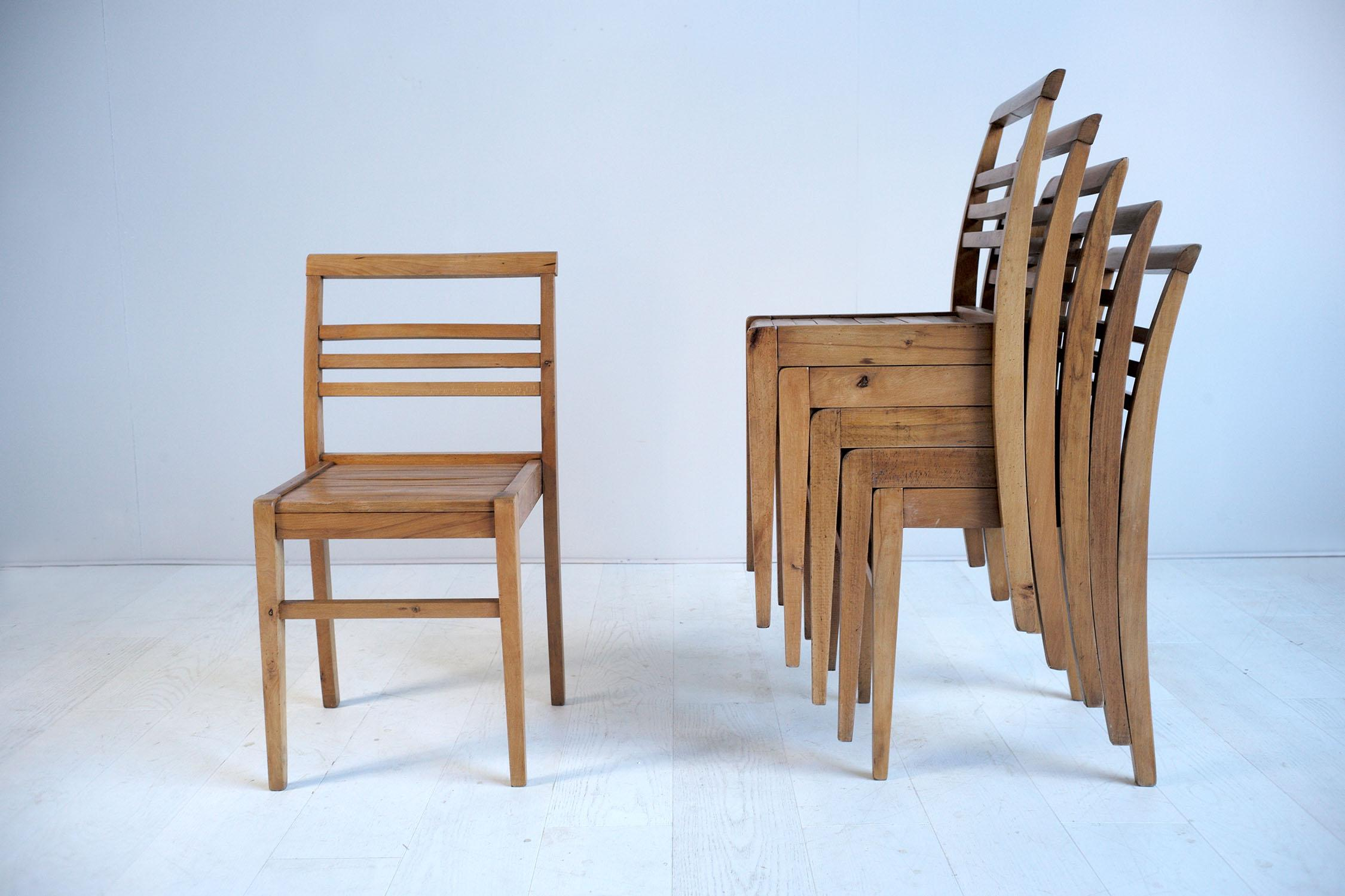 Fauteuils René Gabriel Set Of Six Chairs Of René Gabriel French Reconstruction 1945