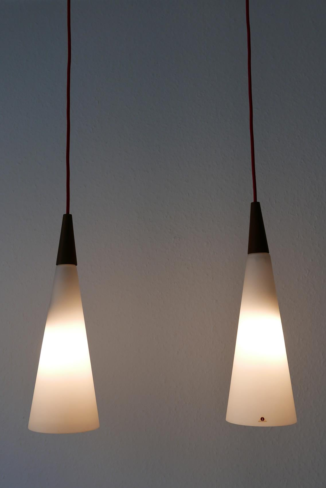 Ceiling Pendant Lights Set Of Two Mid Century Modern Pendant Lamps By Iittala Finland 1960s