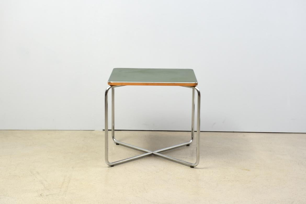 Linoleumboden Zürich Side Table By Marcel Breuer For Bigla 1930s Green Linoleum Tubular Steel