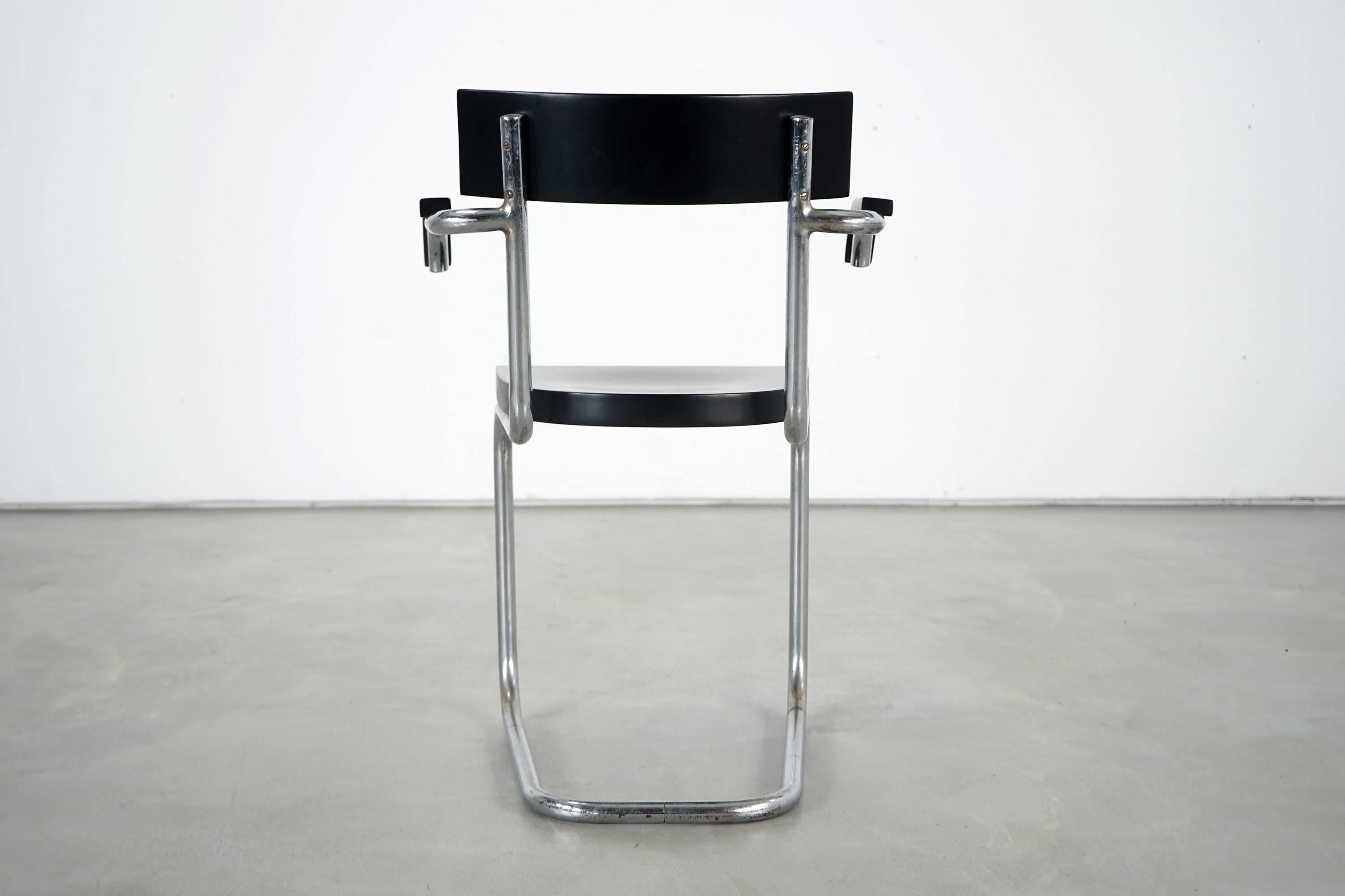 Six Model 262 Cantilever Chairs By Mart Stam For Thonet