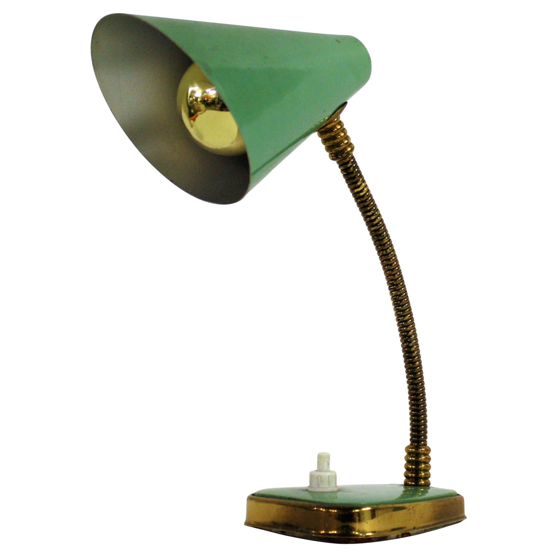 Vintage Table Lamps Small Green Vintage Desk Lamp Made In Italy 1950s