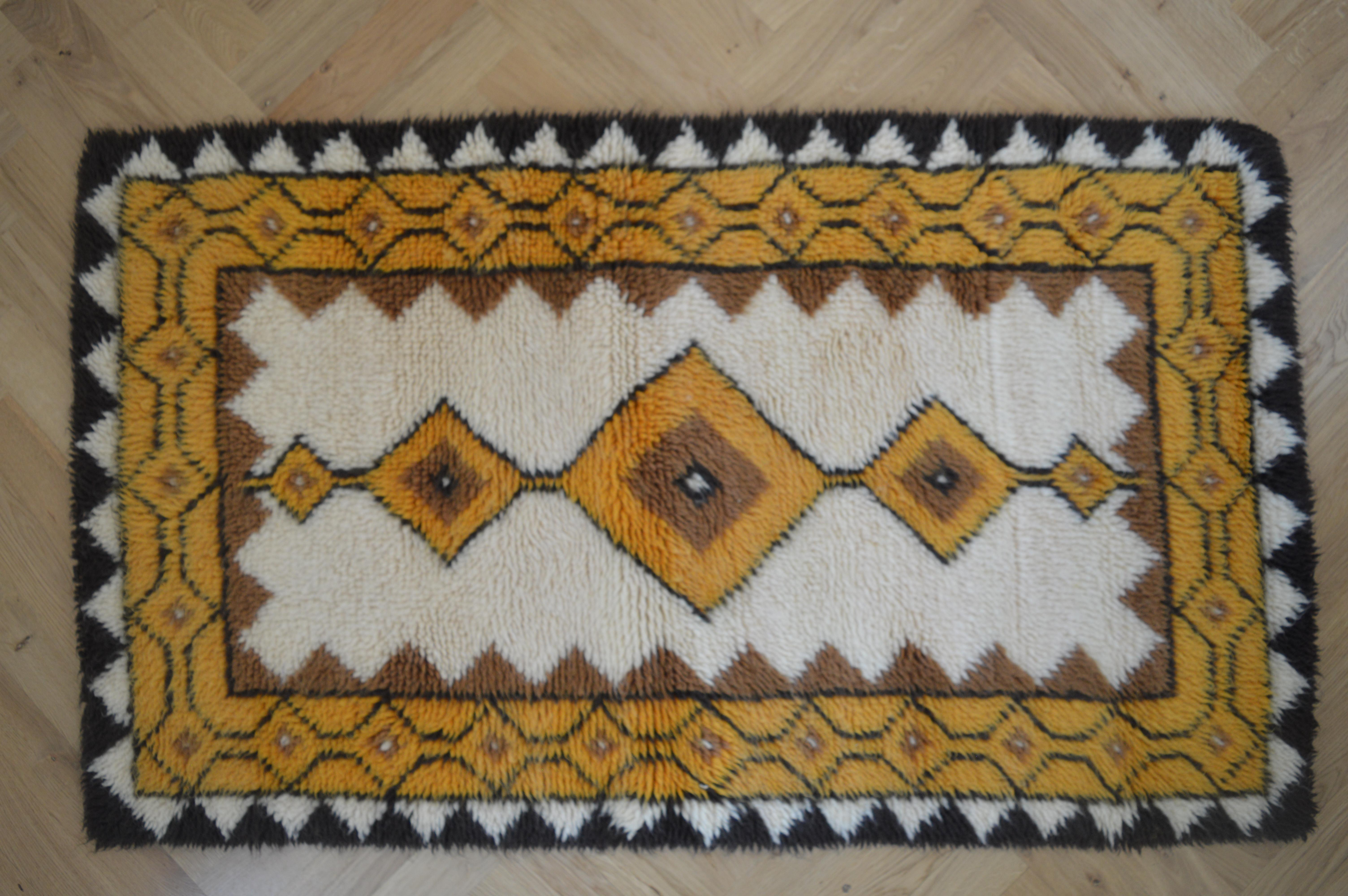 Small Swedish Midcentury Carpet Rug 1970s For Sale At