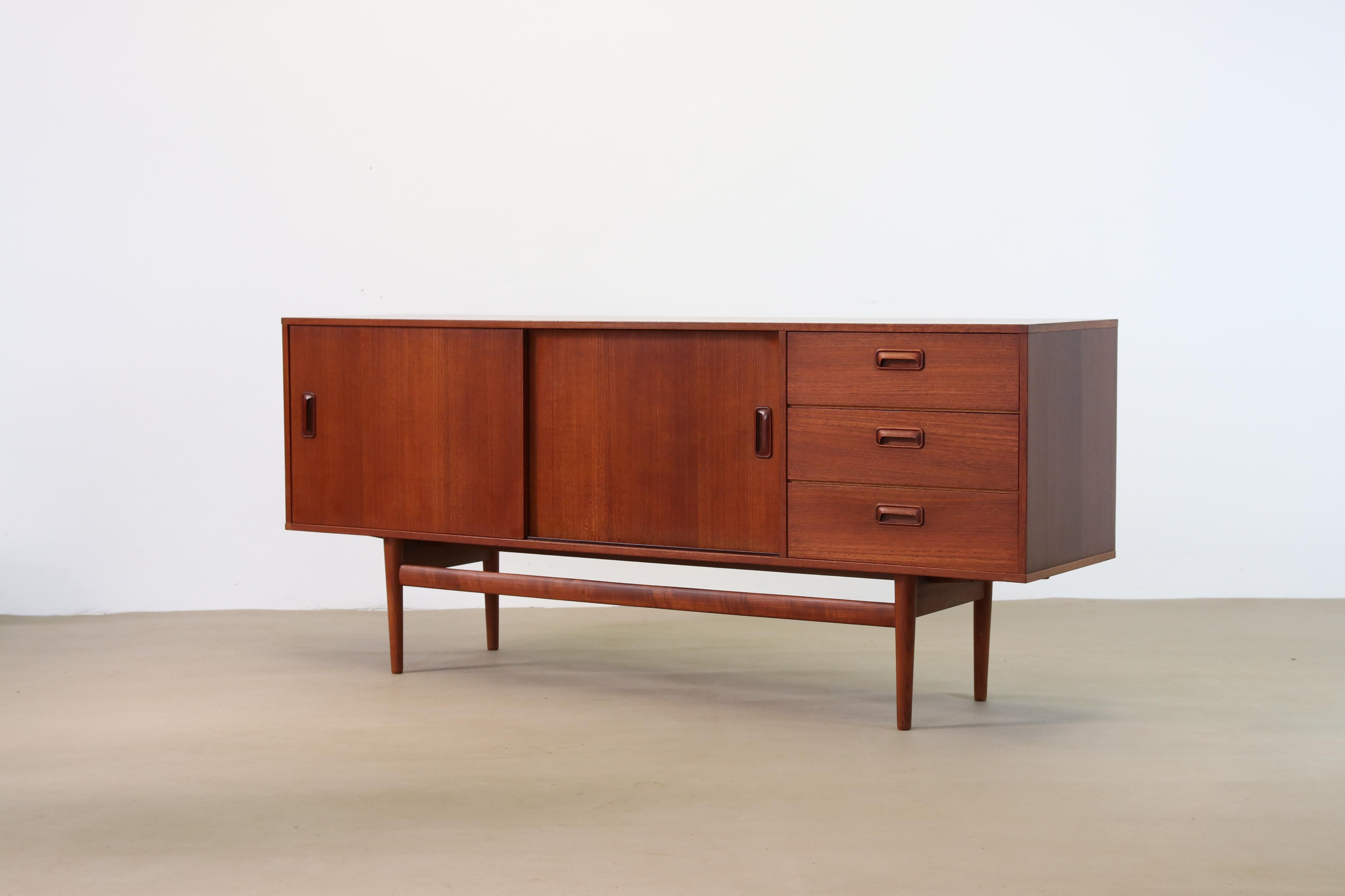 Teak Modernist Sideboard From Musterring Mobel Germany 1960s At 1stdibs