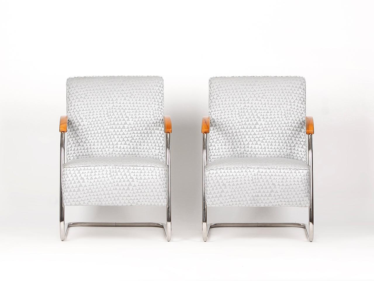Tubular Steel Armchairs From Mücke Melder 1930s Set Of Two For Sale At 1stdibs