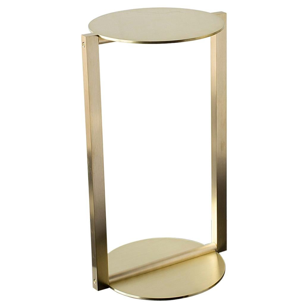 Small Round Glass End Table Untitled Side Table 2 Satin Brass Small Round Accent End Or Drink Tray