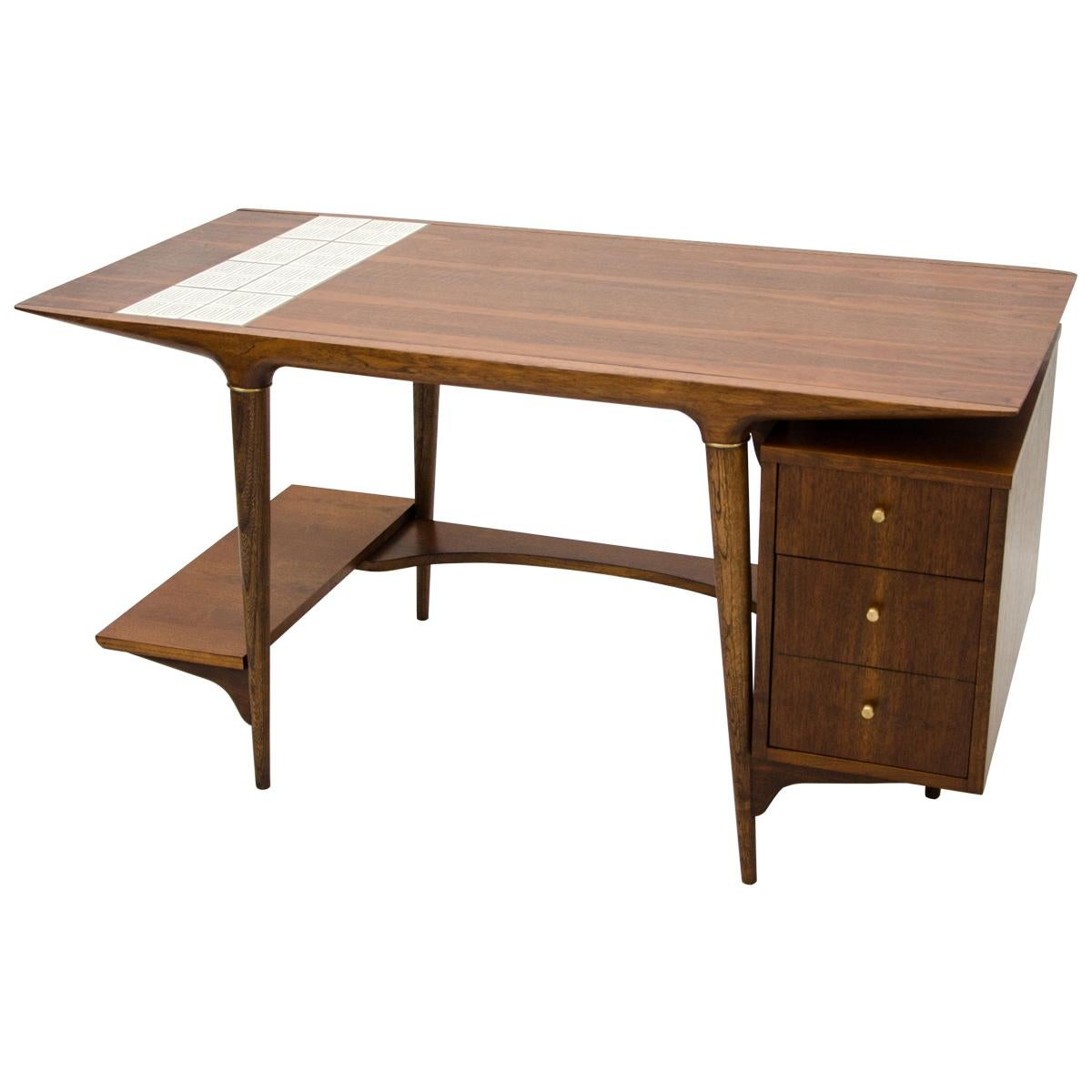 Unusual Desk Unusual Mid Century Desk By Lane With Floating Drawer Cabinet Tile Insert