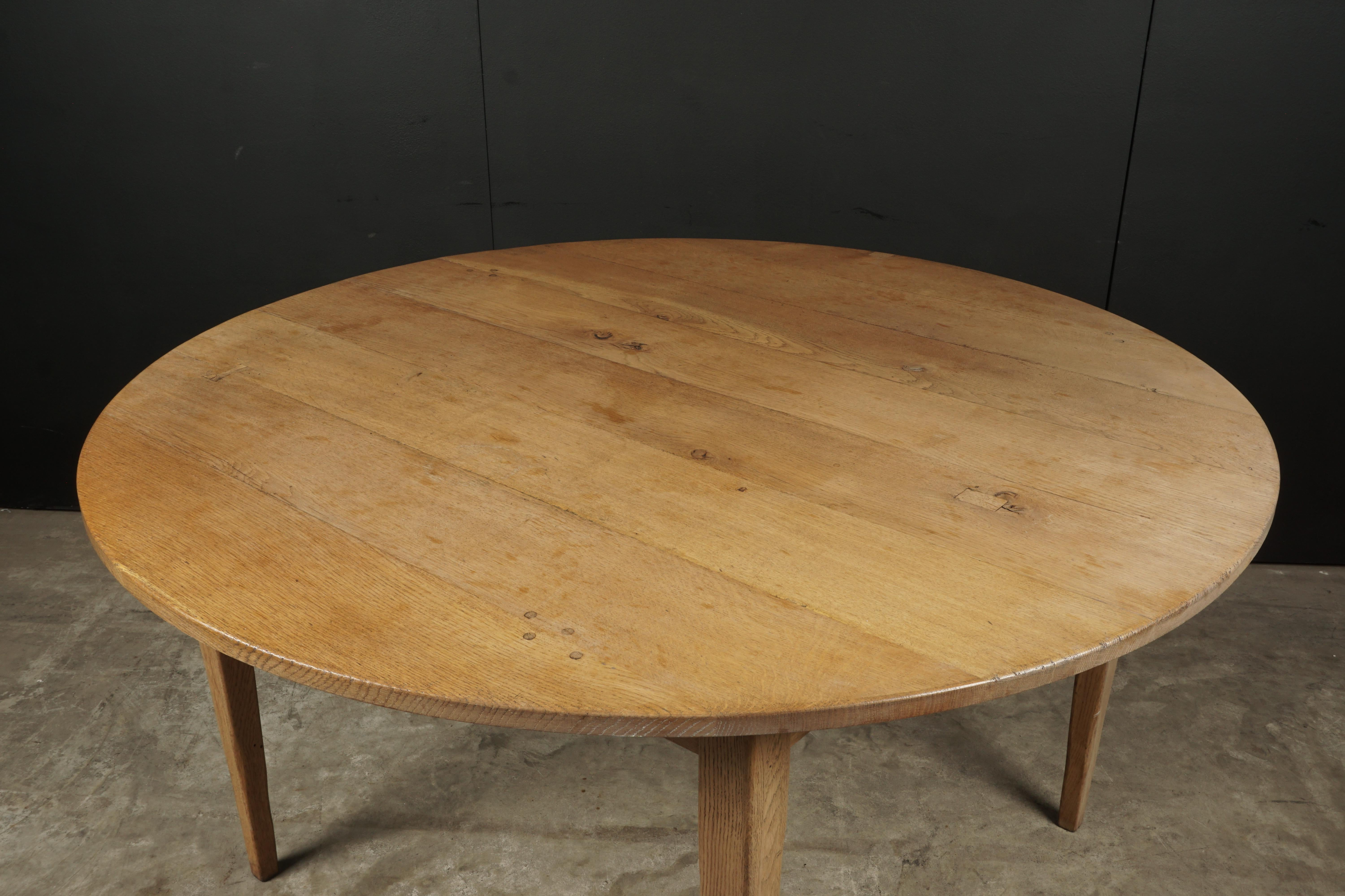 Round Oak Dining Table Unusual Round Oak Dining Table In Oak From Denmark Circa 1970
