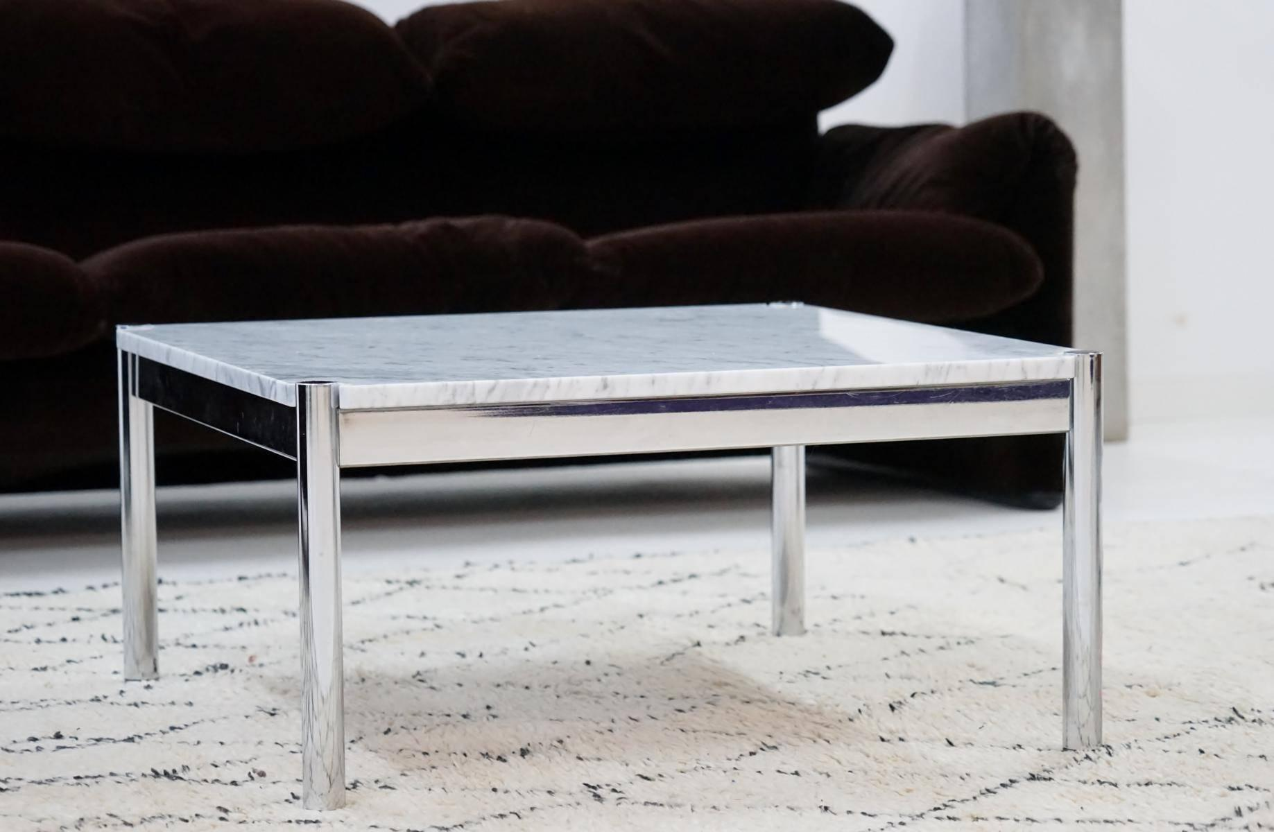Usm Haller Couchtisch Usm Haller Design Carrara Marble Chrome Coffee Couch Sofa Side Table