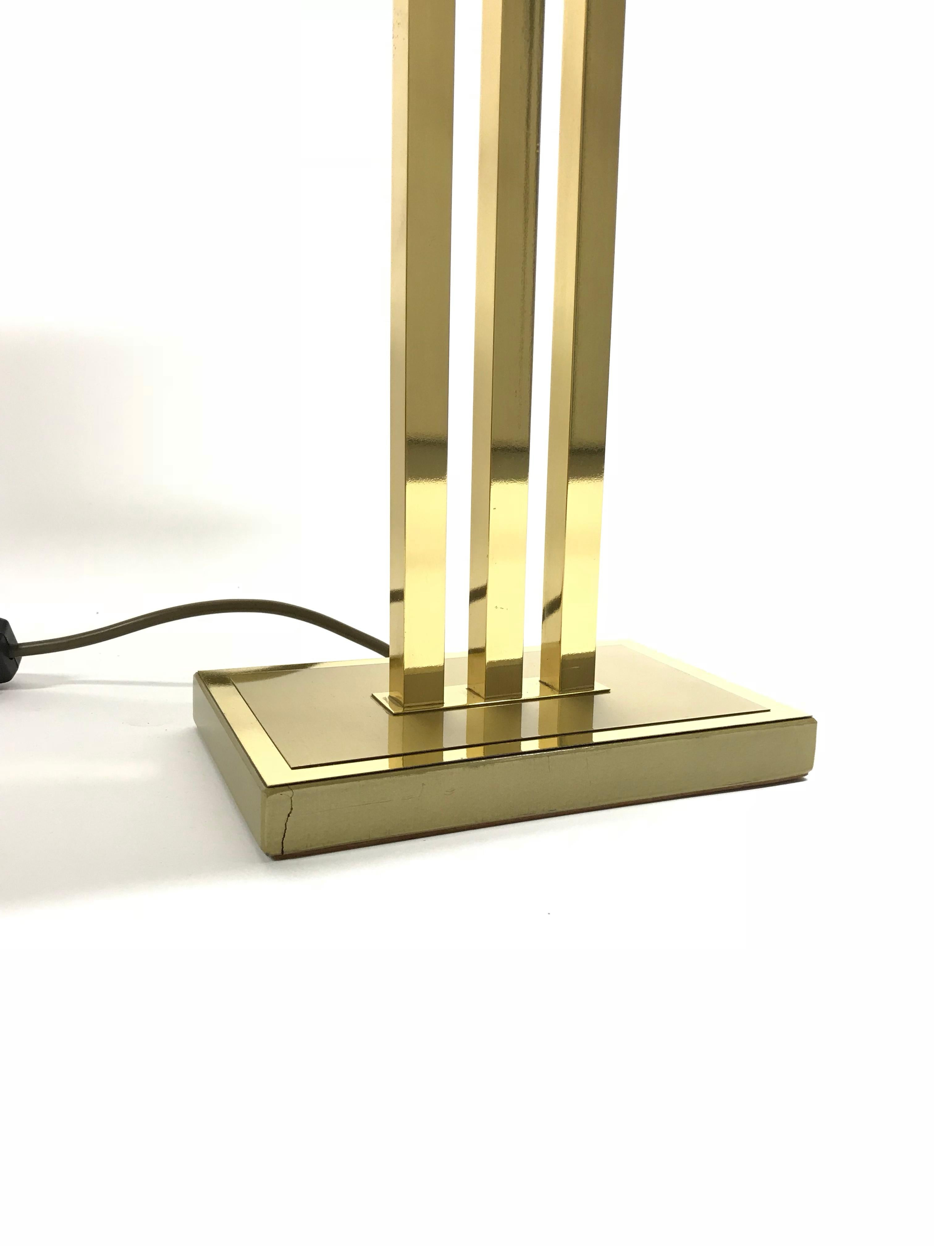 Rechmann Verlichting Weert Vintage Brass Table Lamp By Willy Rizzo For Deknudt 1970s