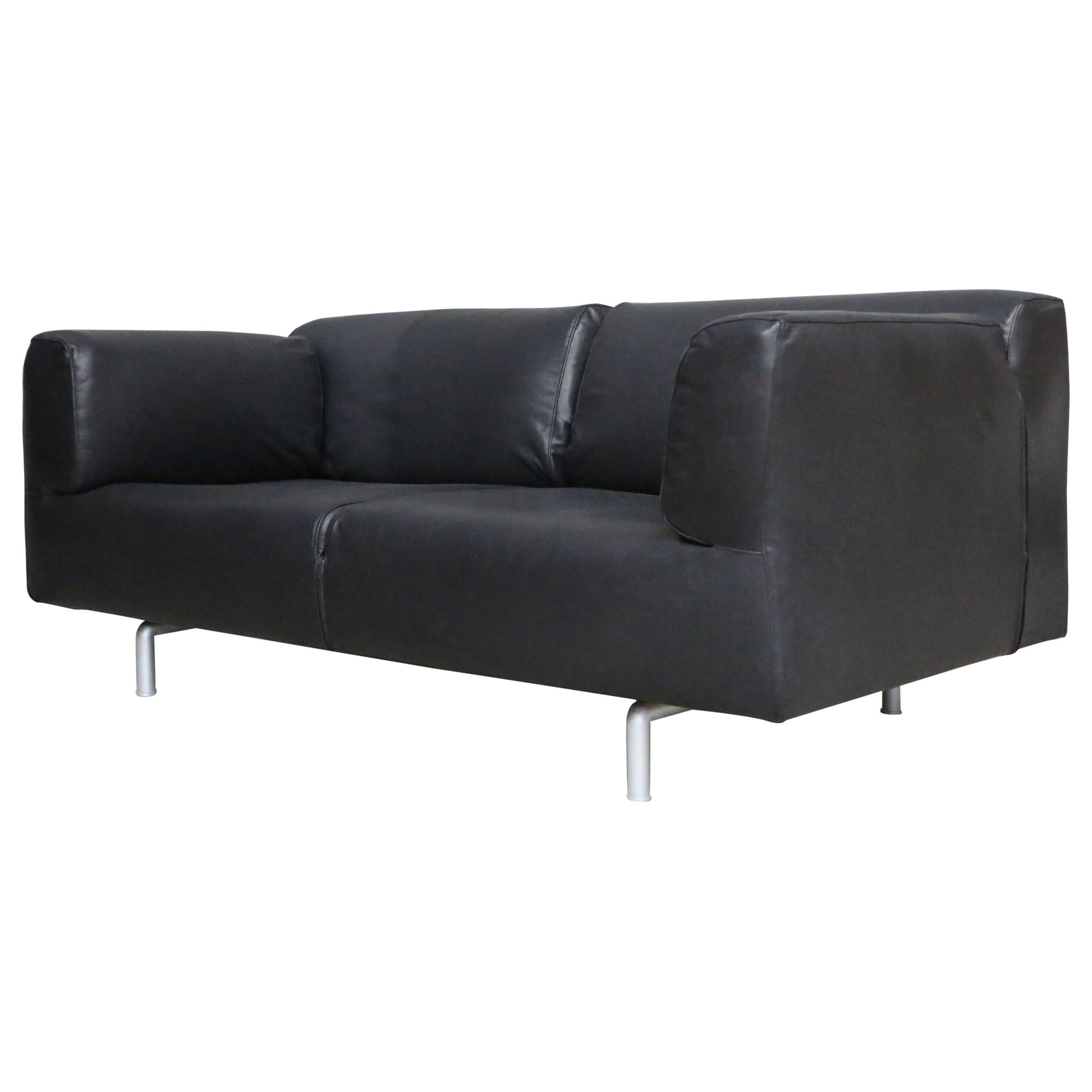 Divani Leather Sofa For Sale Piero Lissoni