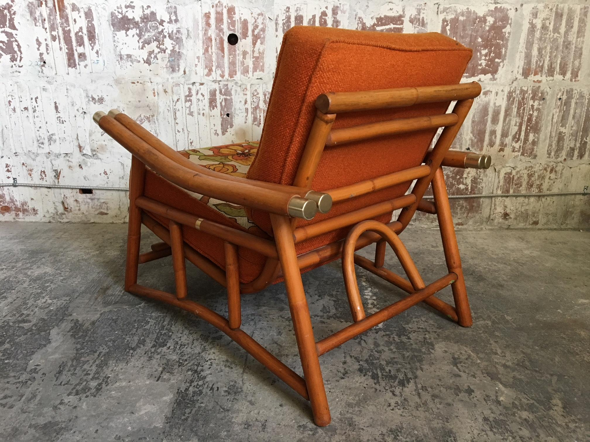 Bambus Lounge Vintage Ficks Reed Bamboo Lounge Chair