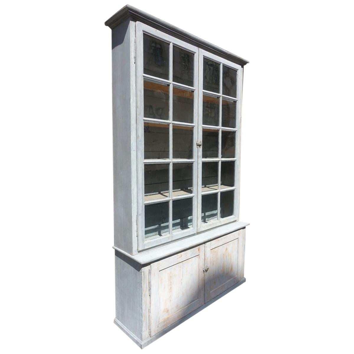 Vintage Vitrine Vintage French Tallboy Display Cabinet