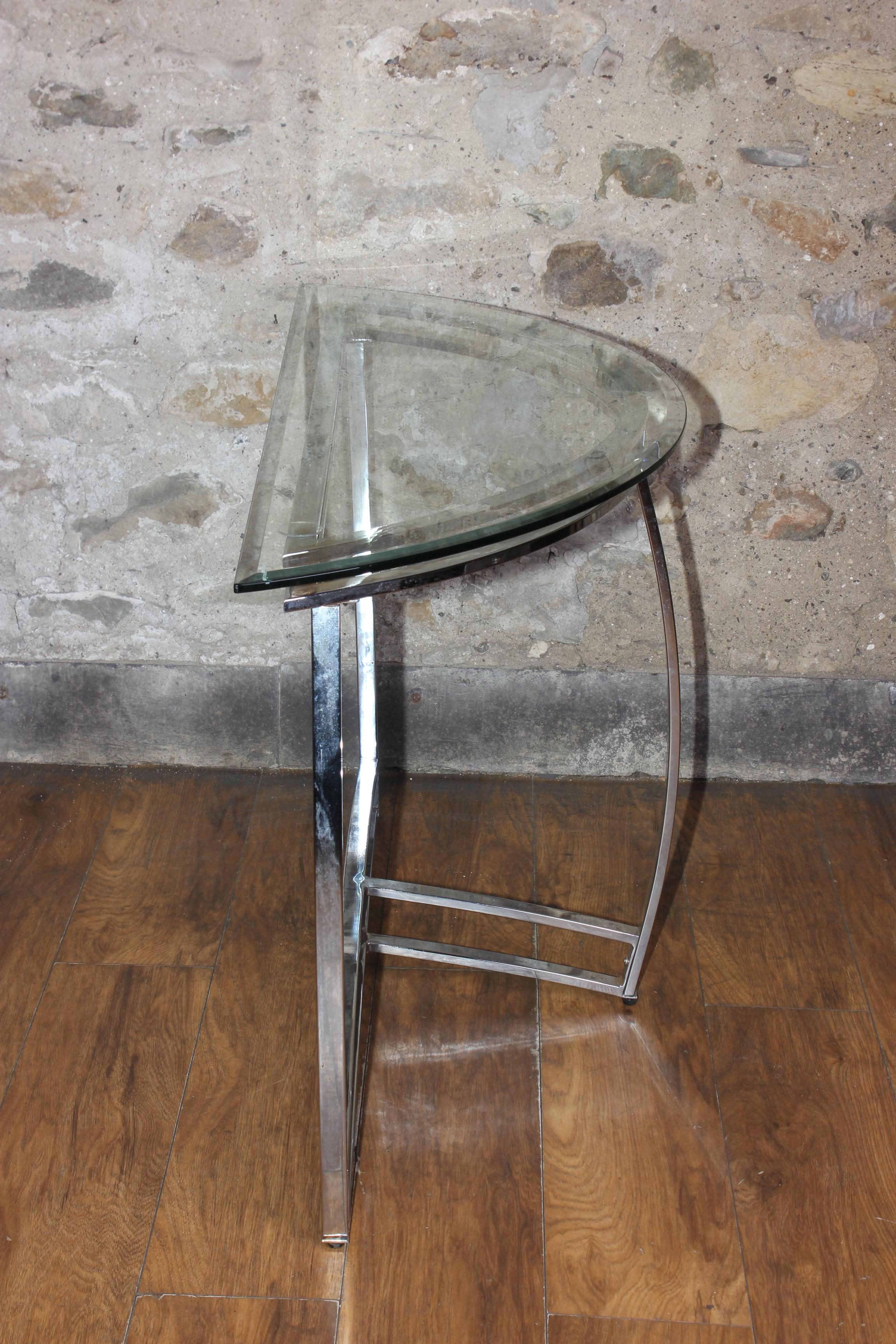 Vintage Hall Table Vintage Mid Century Modern Chrome And Glass Console Table Hall Table
