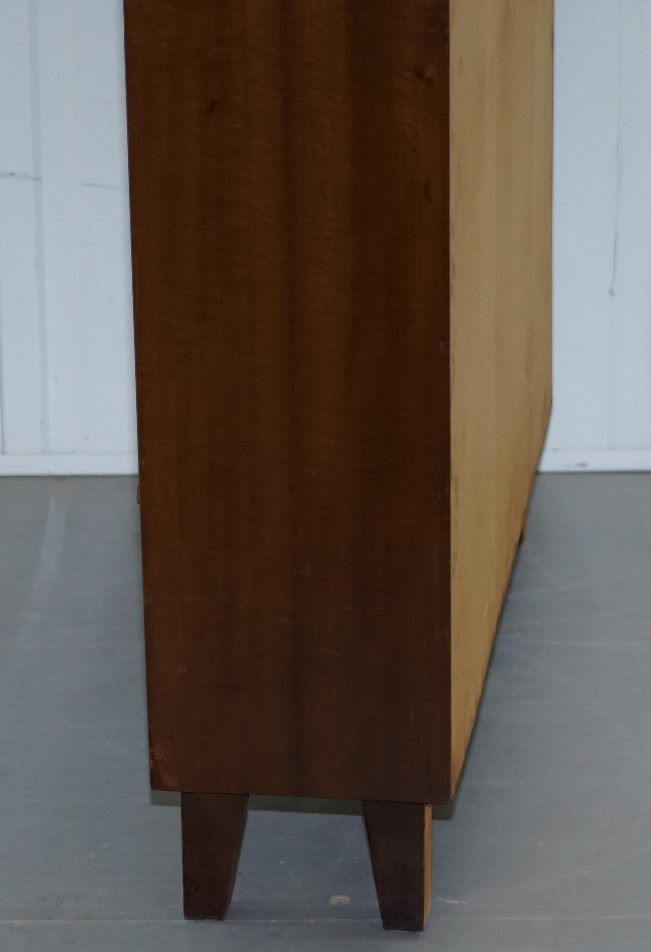 Vintage Mid Century Modern Stamped Musterring Oberfl Behandlung Bookcase For Sale At 1stdibs