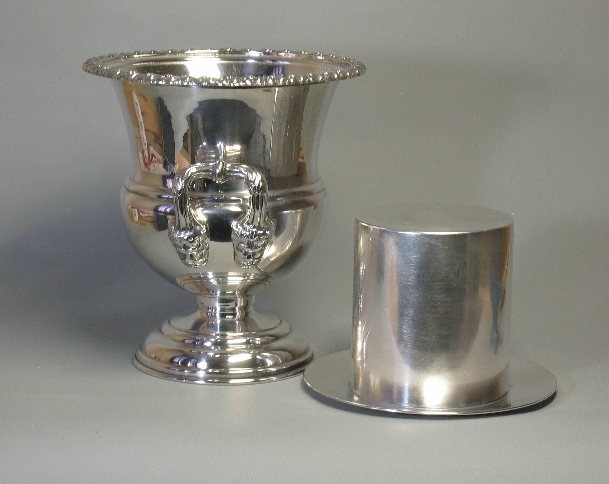 Vintage Silver Plate Wine Cooler Or Champagne Bucket