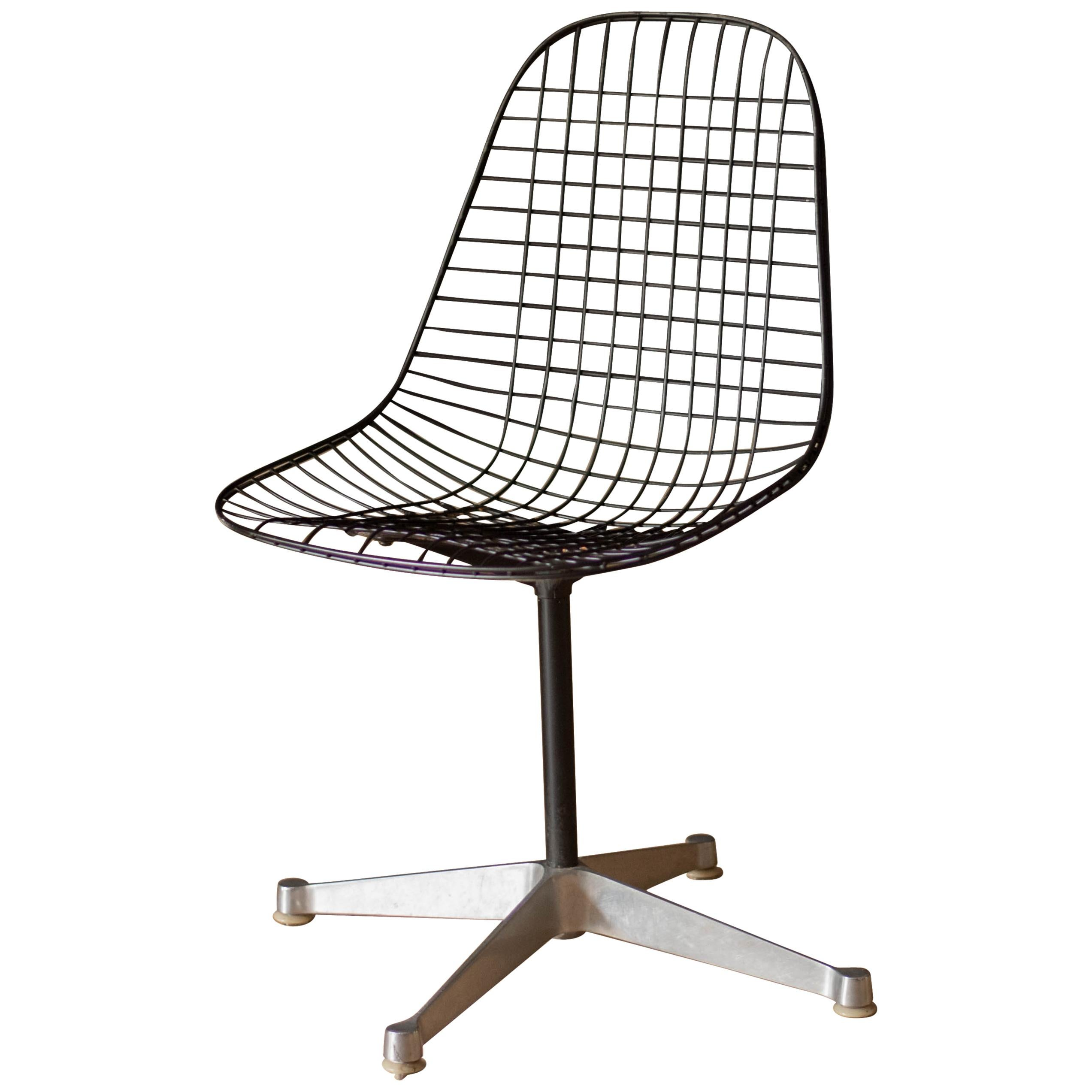 Vintage Swivel Pkc Eames Wire Chair For Herman Miller At - Eames Chair Wire