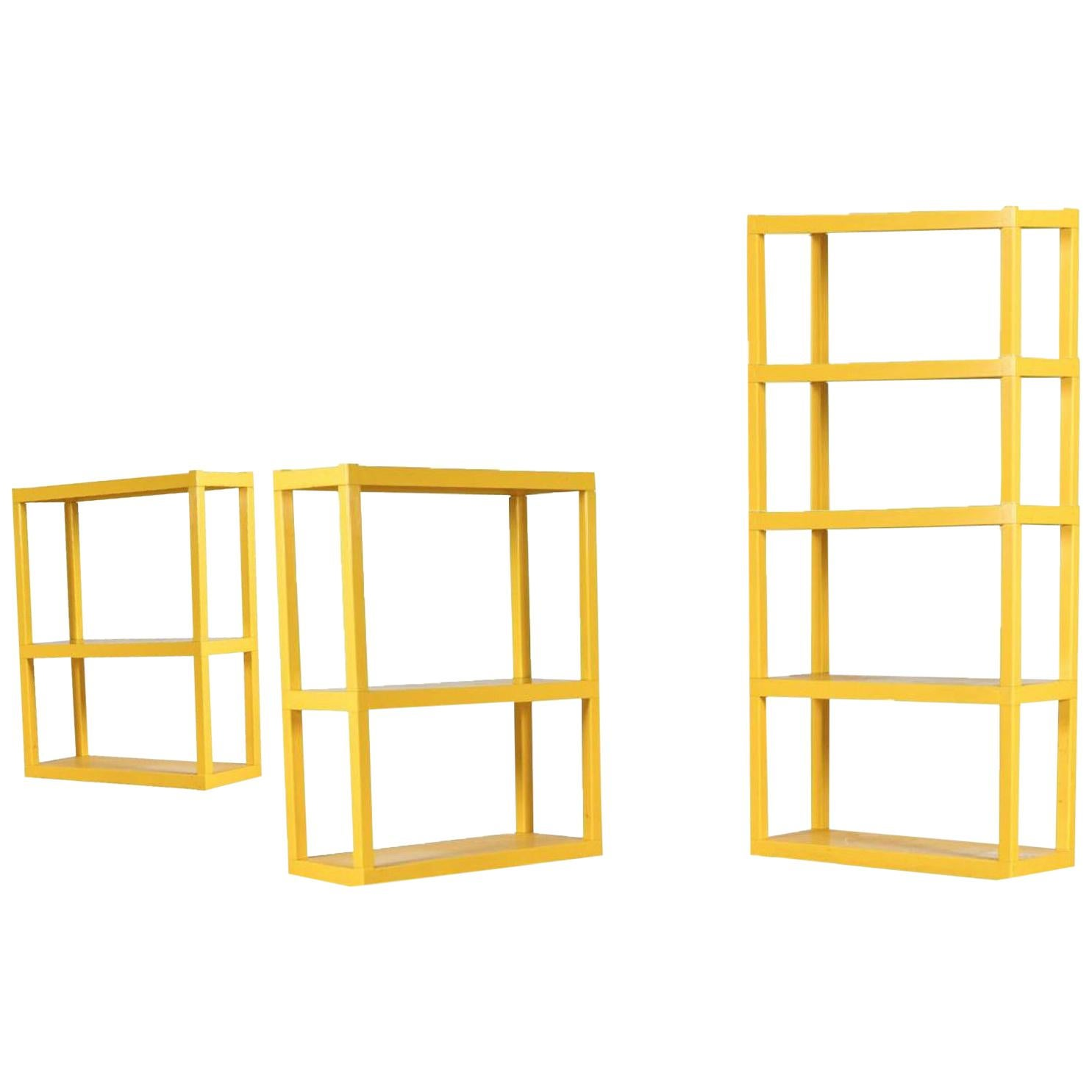 Etagere Otto Vintage Yellow Acrylic Modular Shelving System And Etagere By Syroco New York