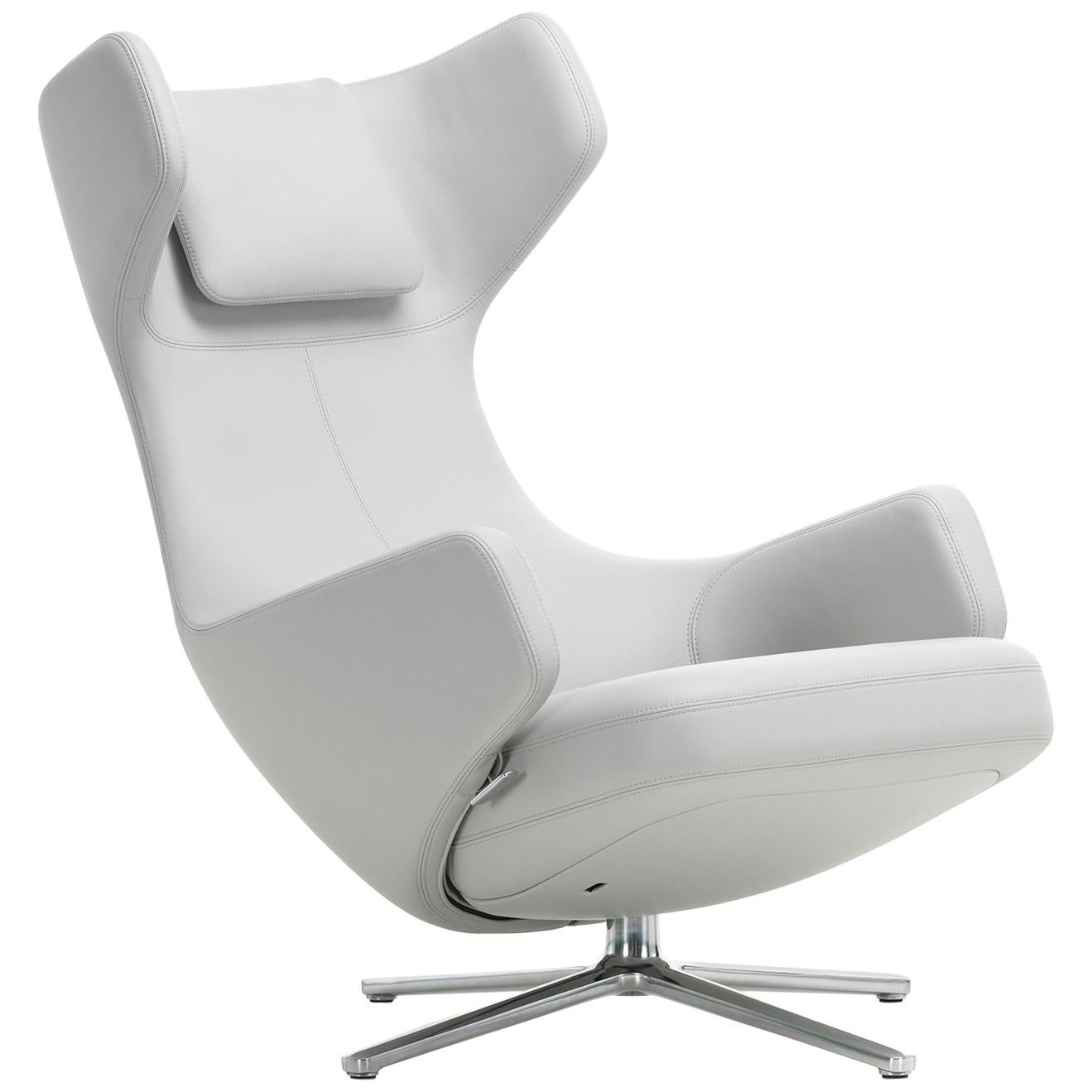 Vitra Grand Repos Vitra Grand Repos Lounge Chair In Snow Leather By Antonio Citterio