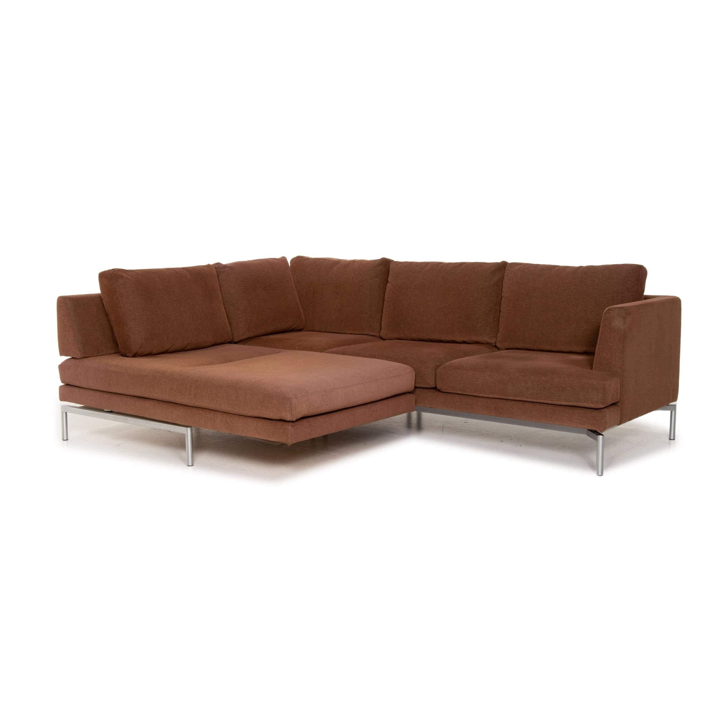 Walter Knoll Good Times Fabric Corner Sofa Brown Function Couch For Sale At 1stdibs