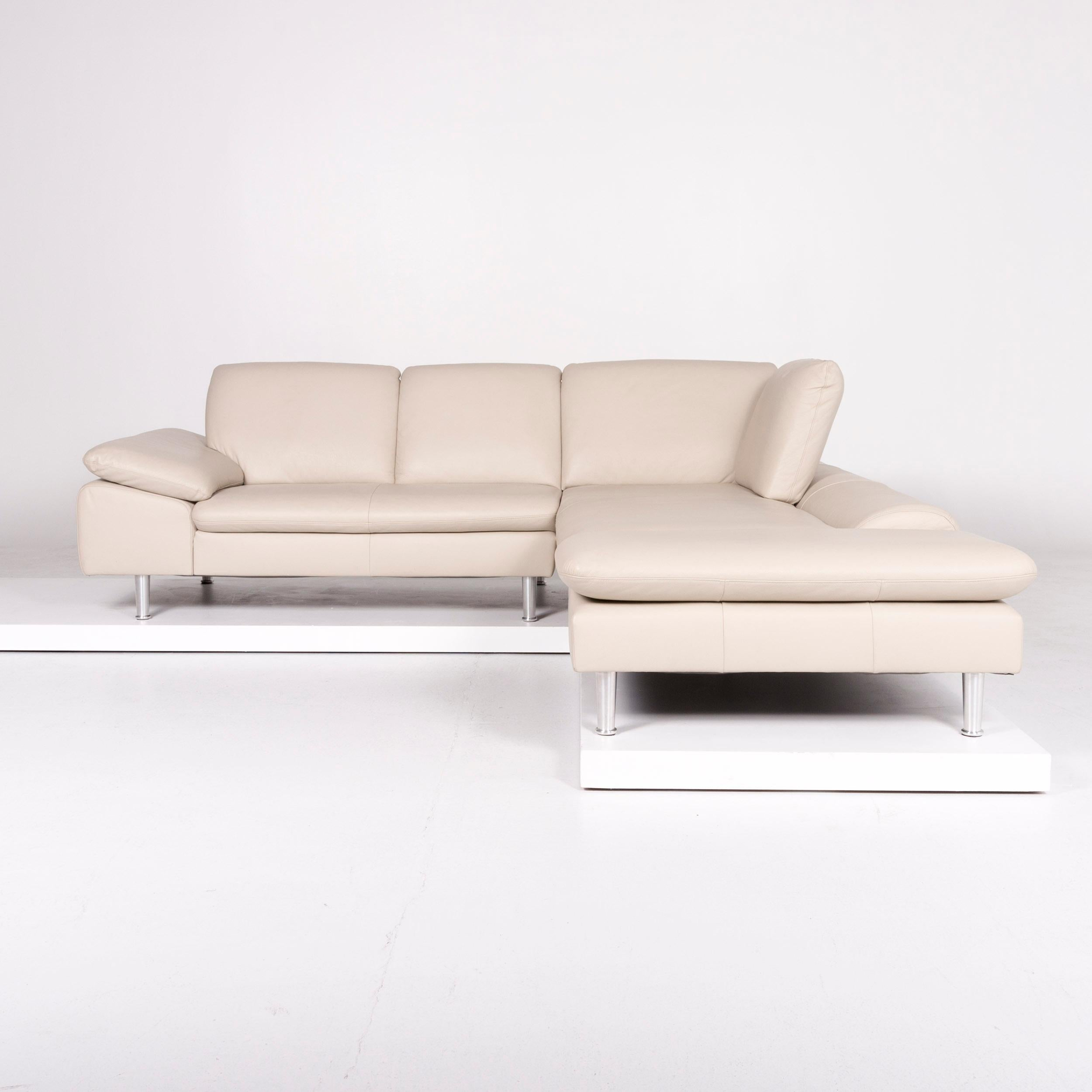 Willi Schillig Loop Designer Leder Sofa Beige Ecksofa For