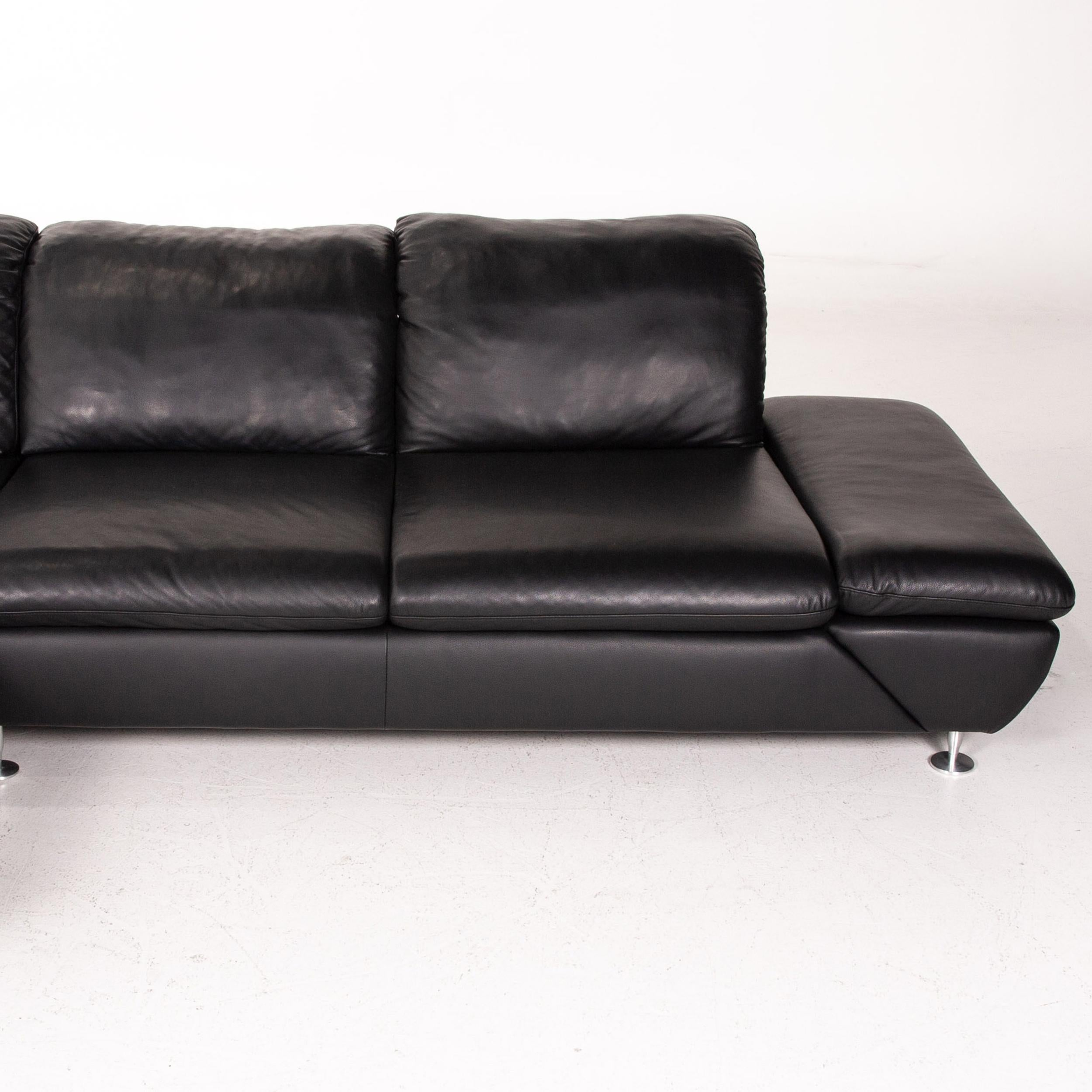 Schillig Taoo Willi Schillig Taoo Leather Corner Sofa Black Sofa Function Couch At 1stdibs