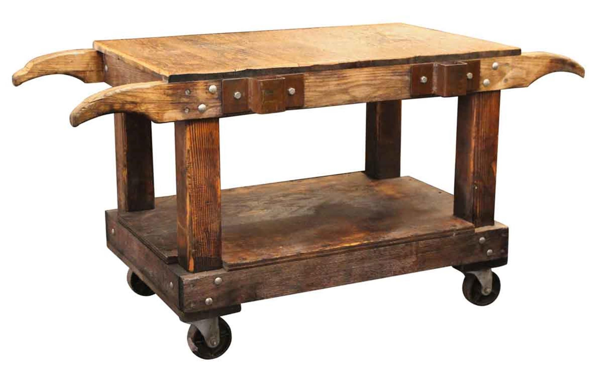 Kücheninsel Oval Wooden Industrial Cart Turned Kitchen Island Or Table Or Counter