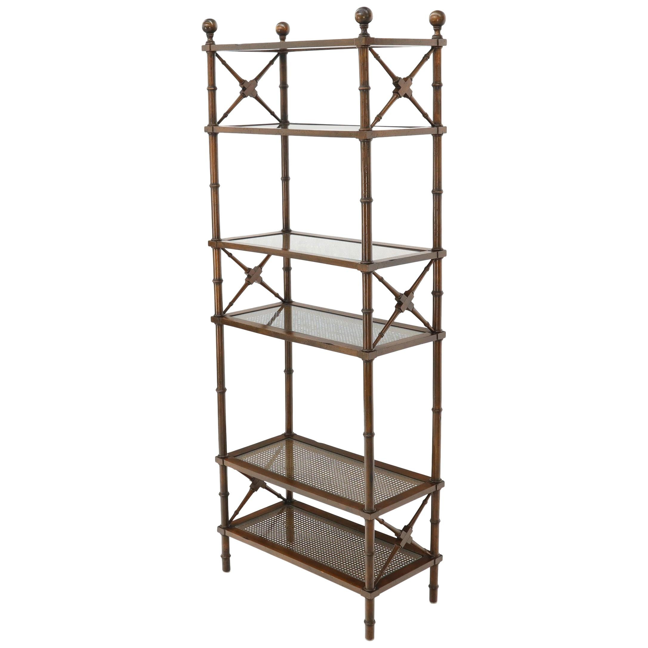 Etagere Otto Vintage Brass Faux Bois Étagère Shelf Trompe L Oeil Regency Gilt Glass Shelves