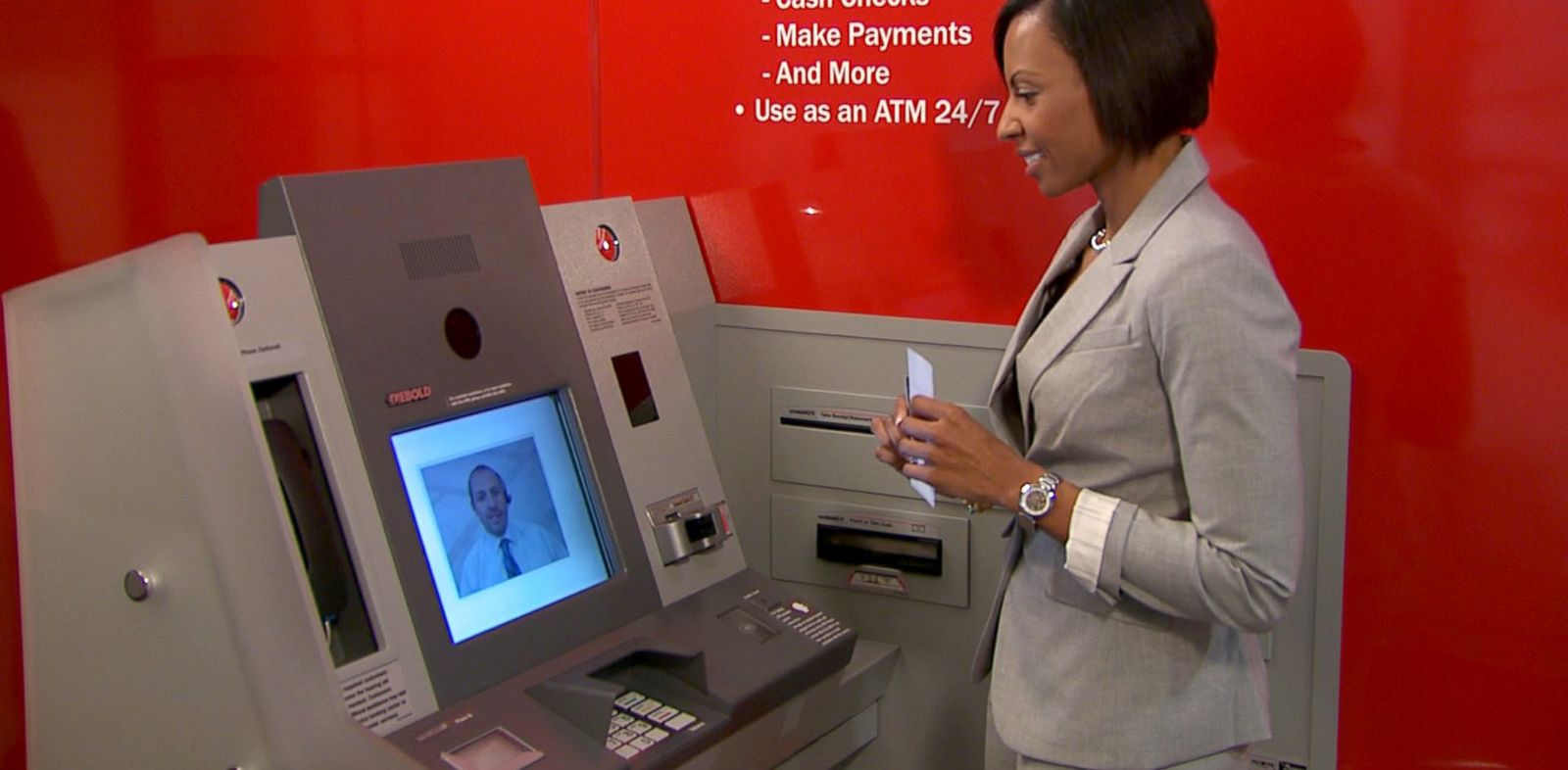 Banc Tele Bank Of America Tellers Picket Atm Machines Abc News