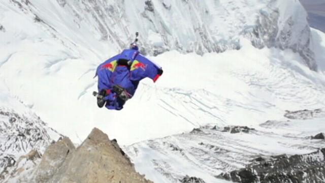 Falling Images Live Wallpaper Mount Everest Wingsuit Jump Video Man Jumps Off Peak With