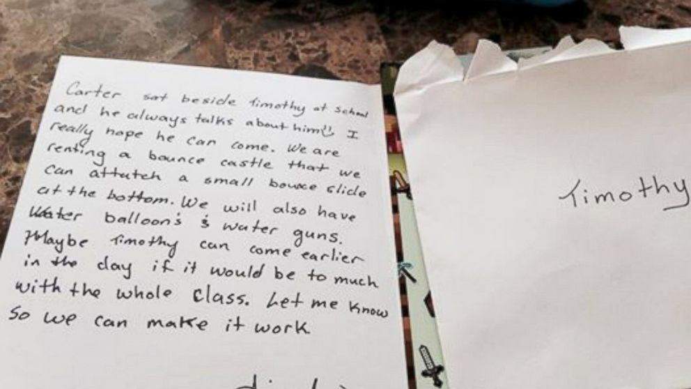 Mom Moved to Tears by Birthday Party Invitation Sent Home With Her - birthday invitation letter sample