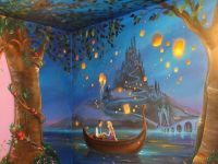 Mom Paints Mural Inspired by 'Tangled' on 8-Year-Old ...