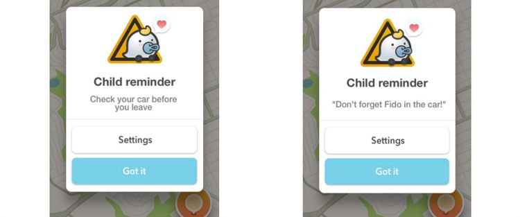 PHOTO: Waze has added a new feature that allows users to opt in to get reminders not to leave their child in the car.