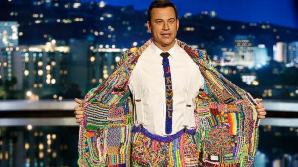 Kimmel suit 16x9 608 Jimmy Kimmel Wears His Suit of the Loom and Its Mesmerizing