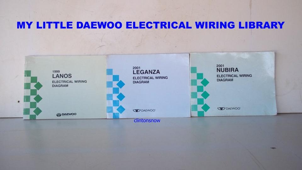 MY LITTLE DAEWOO LIBRARY \u2014 logbook Daewoo Nubira 2001, 20L (DOHC