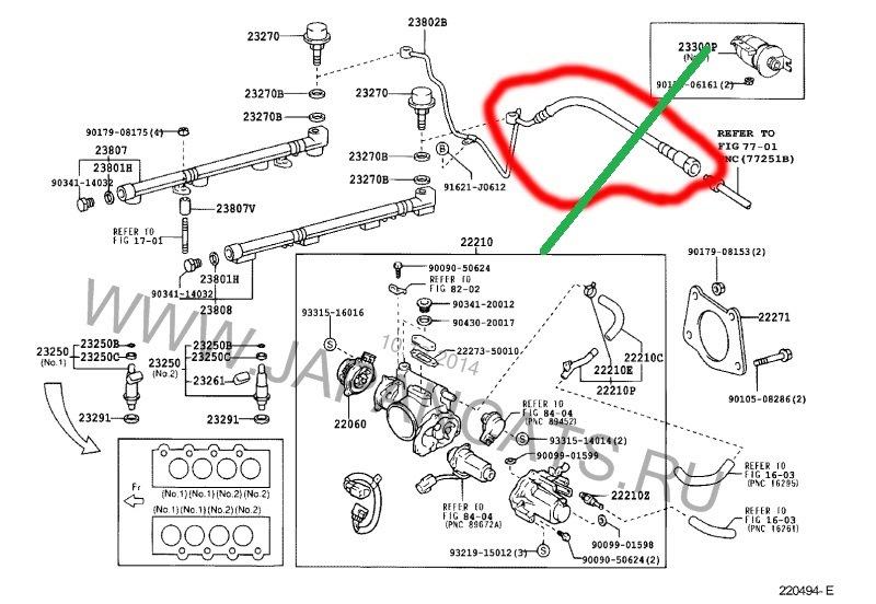 1999 bmw 528i Diagrama del motor
