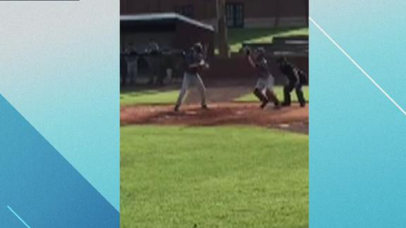 Instant Awesome One-armed middle school catcher is amazing to watch