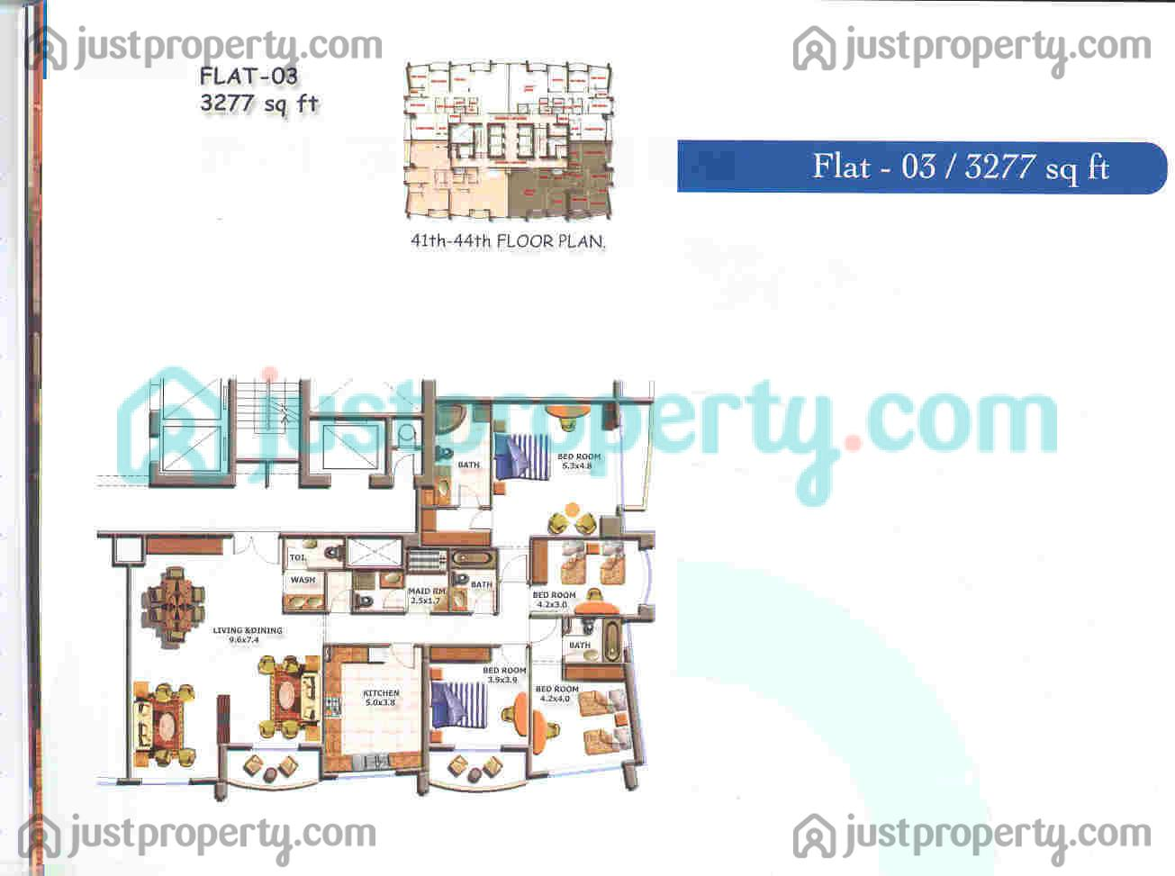 Flat Plan Lake View Floor Plans Justproperty