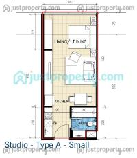 Studio Type Design Floor Plan